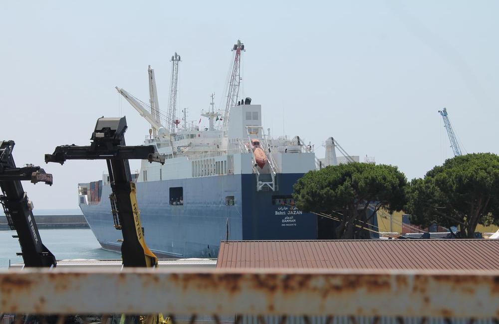 La Bahri Jazan, il 22 luglio nel porto di Genova. Credits: Dalrì/Sclippa