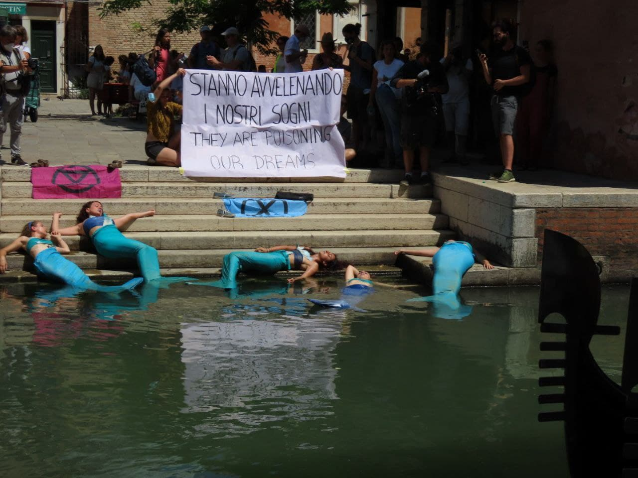 La protesta di Xr al G20 di Genova. Credits: Extinction rebellion